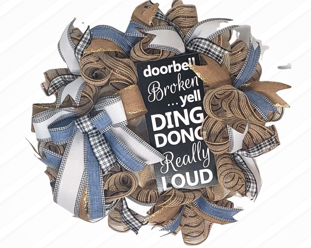 Burlap Wreath with sign